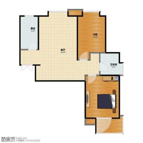 融锦・尚都1室1厅1卫1厨68.20㎡户型图