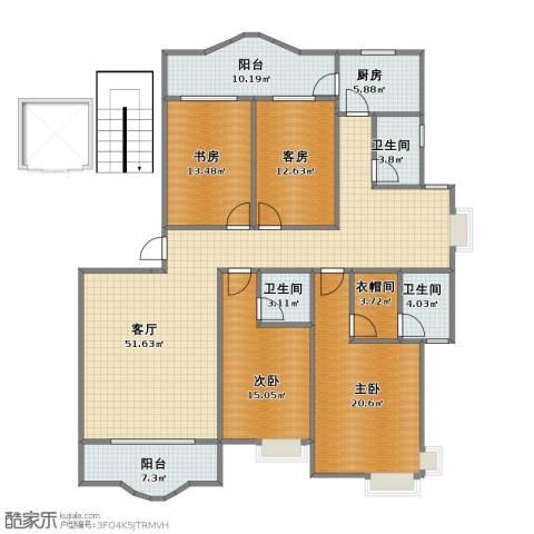 正兴・金碧华府3室1厅1卫3厨151.40㎡户型图