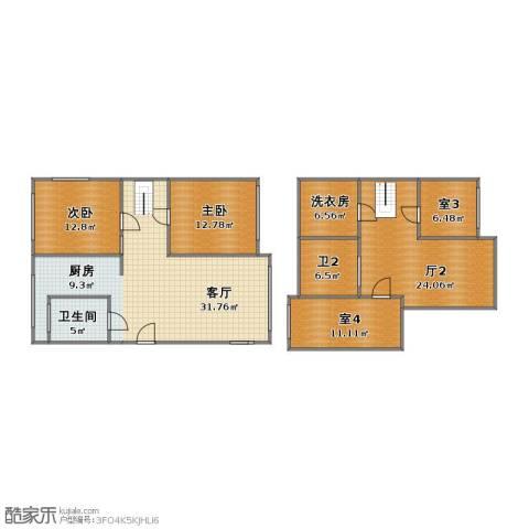 翠水园2室1厅1卫1厨126.30㎡户型图