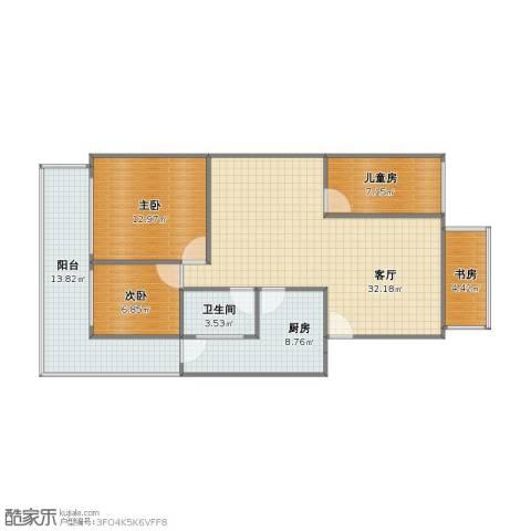 信海花园4室1厅1卫1厨90.00㎡户型图