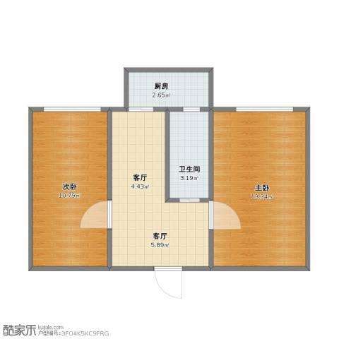 横江里2室2厅1卫1厨40.20㎡户型图