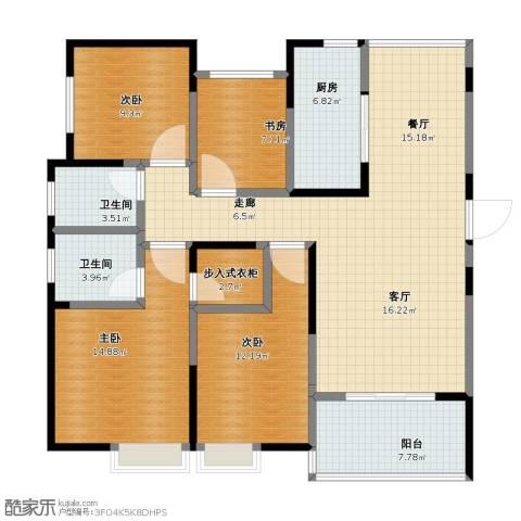 中海国际社区4室2厅1卫2厨106.10㎡户型图