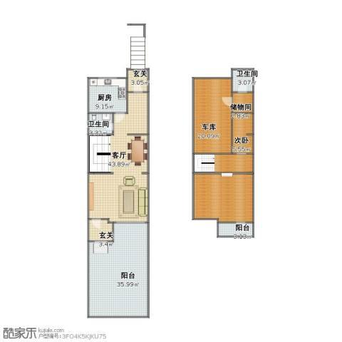 西门外大街16号院1室1厅1卫2厨161.00㎡户型图