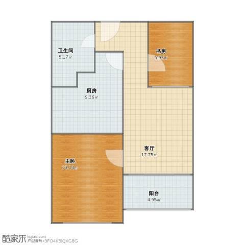东晖花苑2室1厅1卫1厨56.20㎡户型图