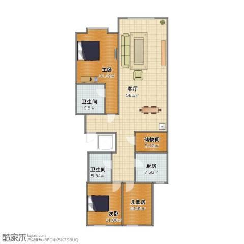 COART Village 雪山艺术小镇3室1厅1卫2厨126.40㎡户型图