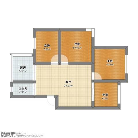 鹤北一街坊4室1厅1卫1厨69.00㎡户型图