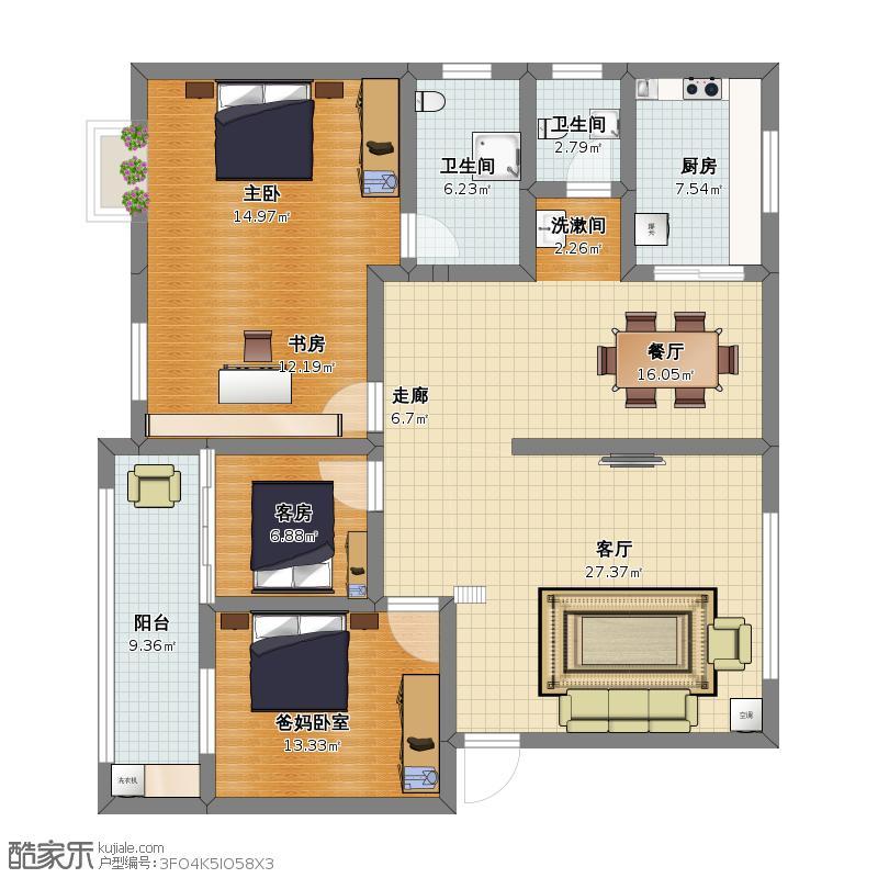 四室两厅方案二