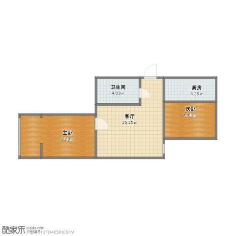太平里小区2室1厅1卫1厨42.20㎡户型图