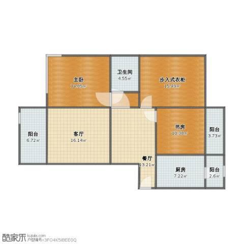 凤凰和美2室2厅1卫1厨97.00㎡户型图