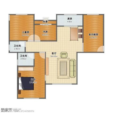 碧桂园凰城3室1厅1卫2厨94.00㎡户型图