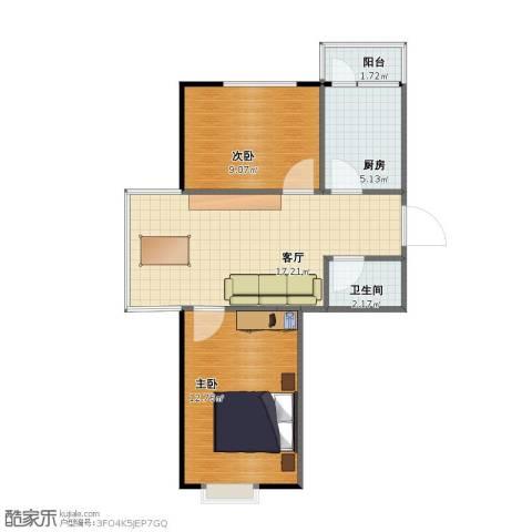 禹舜嘉园2室1厅1卫1厨48.00㎡户型图