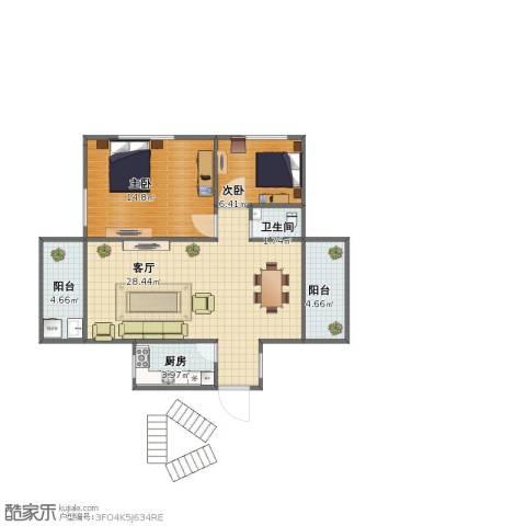 永大新城别墅2室1厅1卫1厨65.00㎡户型图