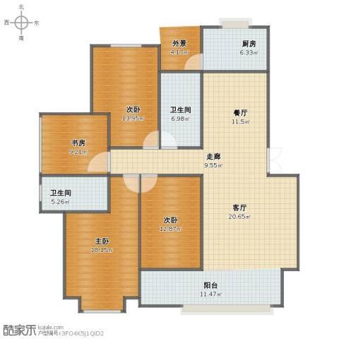 高速秋浦天地4室2厅1卫2厨130.00㎡户型图