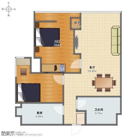 东特新天地1室1厅1卫1厨69.00㎡户型图