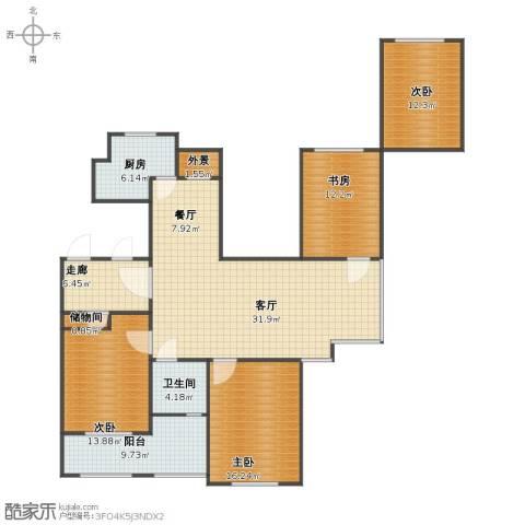金色城邦4室2厅1卫1厨123.30㎡户型图