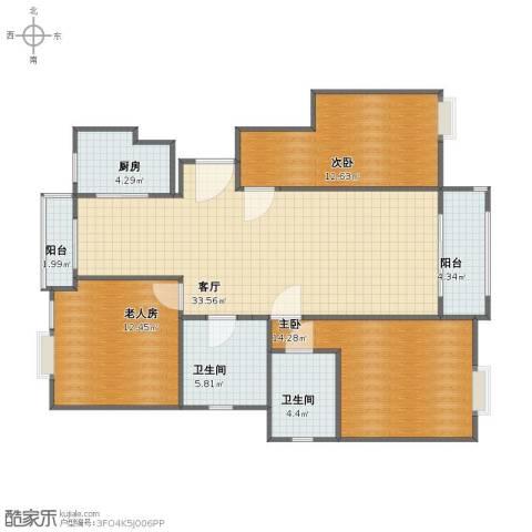 汇景公寓3室1厅1卫2厨94.00㎡户型图