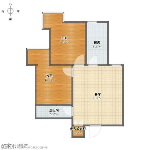 小店区政府宿舍2室1厅1卫1厨56.10㎡户型图