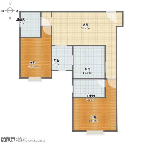 同济路1111弄2室1厅1卫2厨95.00㎡户型图
