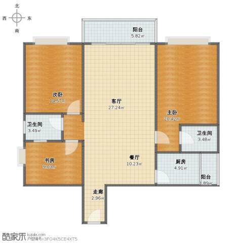 631所3室2厅1卫2厨106.00㎡户型图