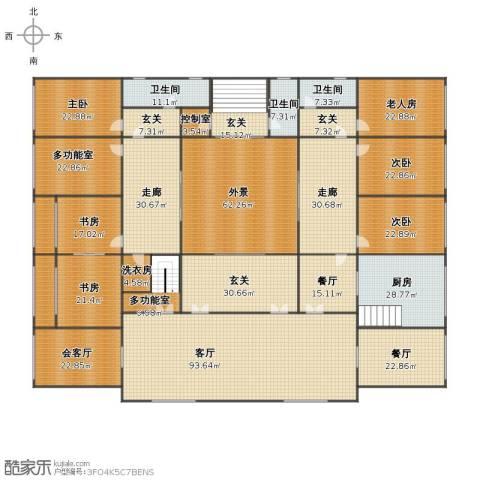 红一号6室3厅1卫3厨576.00㎡户型图