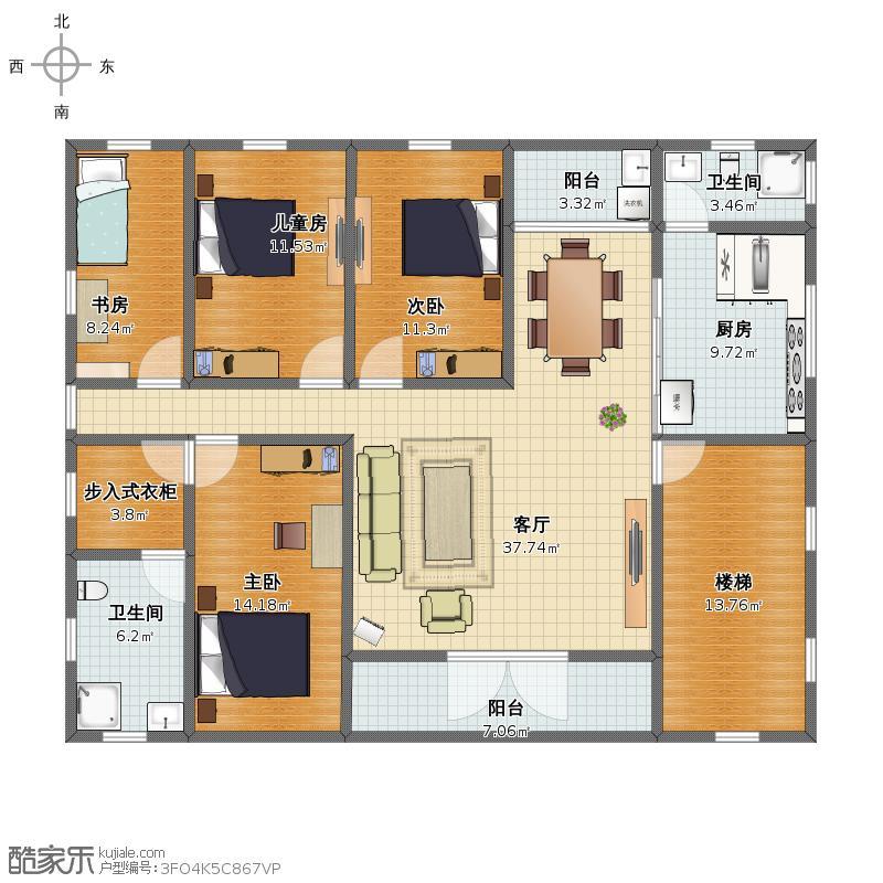 150二楼平面图东楼梯