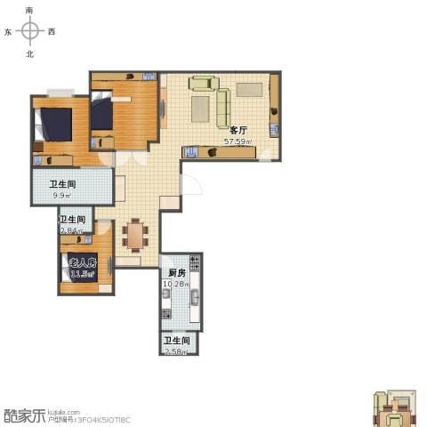 玲珑湾1室1厅1卫3厨139.00㎡户型图