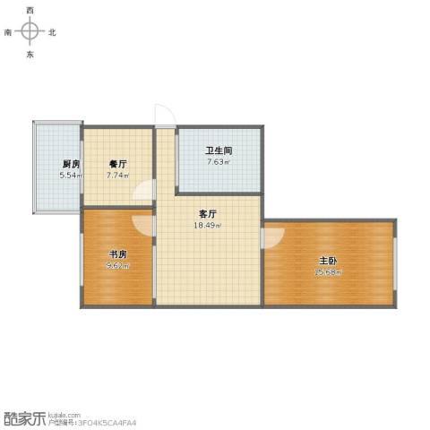 兰花小区2室2厅1卫1厨72.00㎡户型图