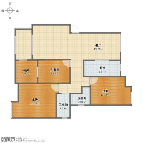 青年公社4室1厅1卫2厨110.00㎡户型图
