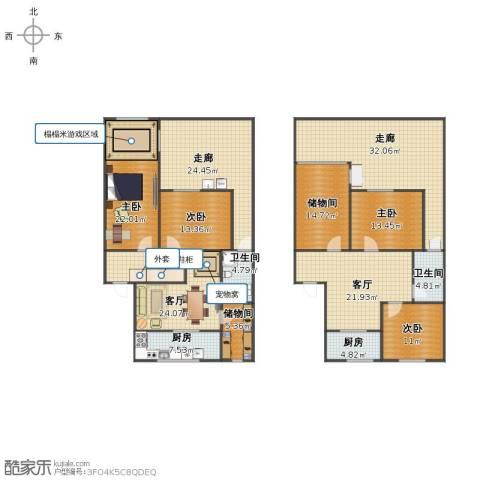浦东大道2641弄小区4室2厅2卫2厨224.00㎡户型图