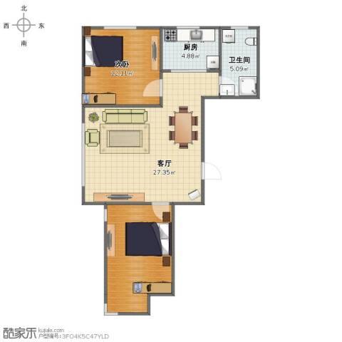 天盛名都1室1厅1卫1厨70.00㎡户型图