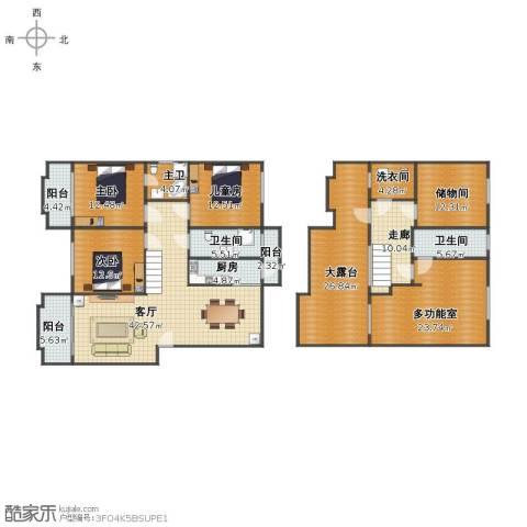 翰林世家3室1厅1卫2厨209.00㎡户型图