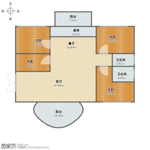禾祥商城4室2厅1卫2厨151.00㎡户型图