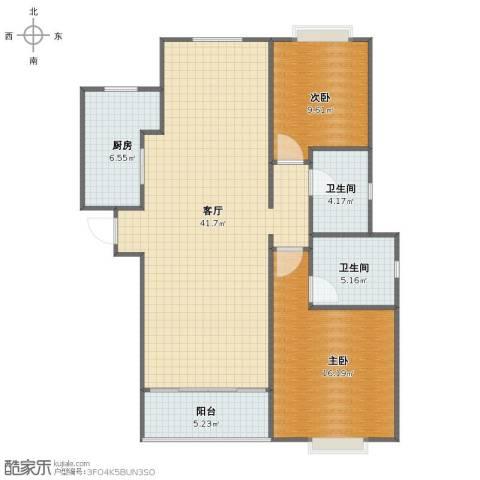 领馆882室1厅1卫2厨97.00㎡户型图