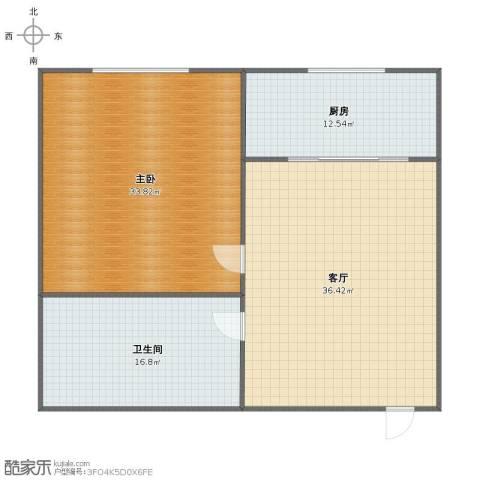 宏意小区1室1厅1卫1厨107.00㎡户型图