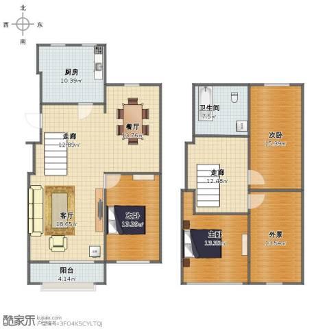 碧海云天3室2厅1卫1厨149.00㎡户型图