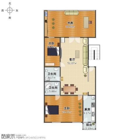 中发郦苑3室1厅1卫2厨167.00㎡户型图