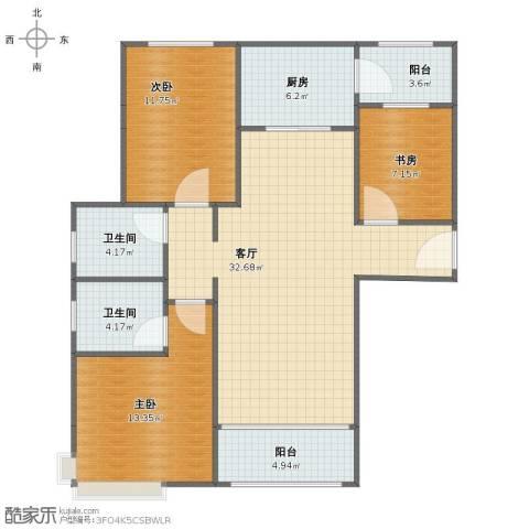 碧桂园滨海城3室1厅1卫2厨98.00㎡户型图