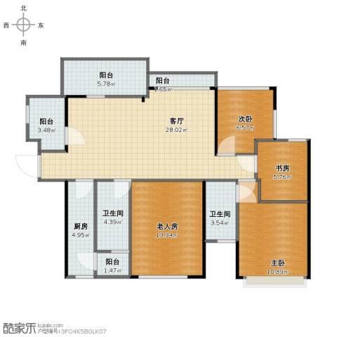 伊泰・华府世家4室1厅1卫2厨100.95㎡户型图