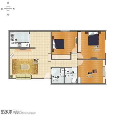 金圆・上都2室1厅1卫2厨112.00㎡户型图