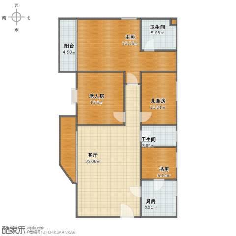 东安花园4室1厅1卫2厨126.00㎡户型图