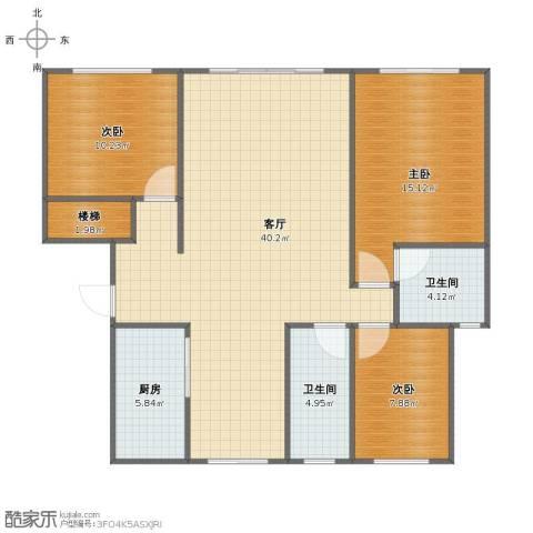上海阳城3室1厅1卫2厨99.46㎡户型图