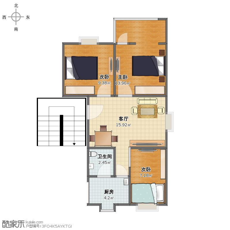 小三房户型图