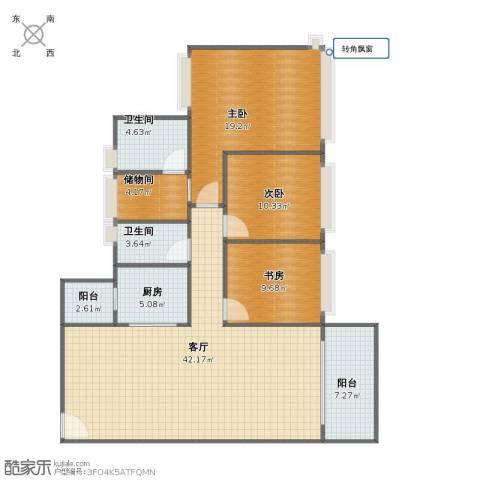 中澳世纪城3室1厅1卫2厨120.00㎡户型图