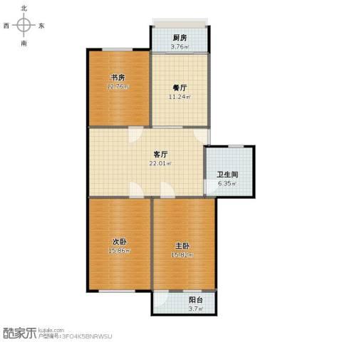 青后小区3室2厅1卫1厨101.00㎡户型图