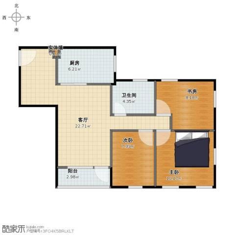 华侨新村3室1厅1卫1厨70.00㎡户型图