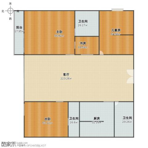 阳光绿岛4室1厅1卫3厨637.00㎡户型图