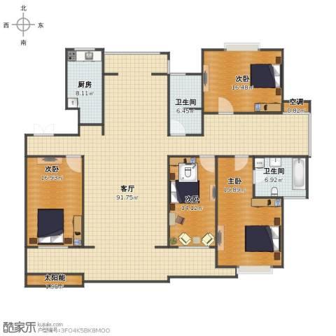 警察花园4室1厅1卫2厨199.00㎡户型图