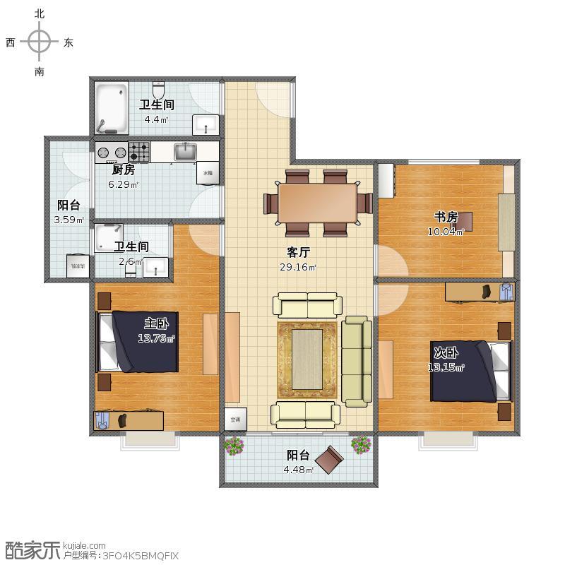 名悦楼A4户型图