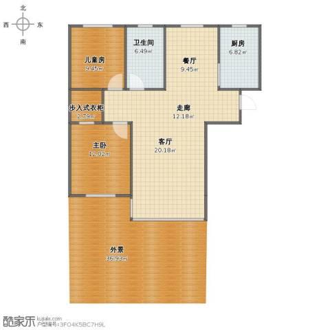 我爱我家2室2厅1卫1厨125.00㎡户型图