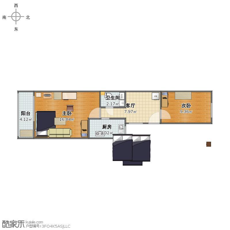 甜水园西里-03(现状家具位置图)